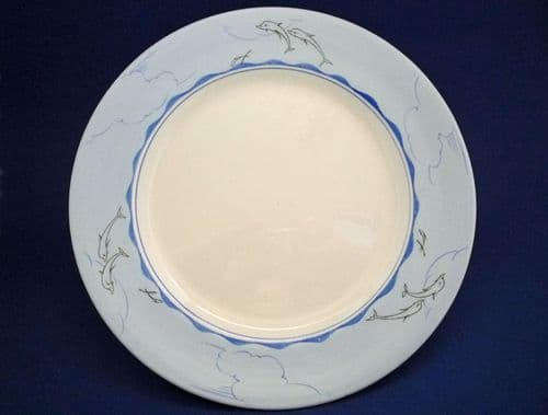 Clarice Cliff Bizarre 'Dolphin' Plate designed by William P. Robins for Harrods c1934