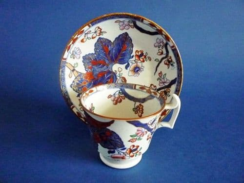 Copeland and Garrett late Spode 'Tobacco Leaf' Pattern 2061 Coffee Cup and Saucer c1833