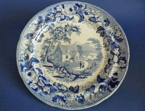 Davenport 'Mare and Foal' Series Pearlware Plate c1836 #1