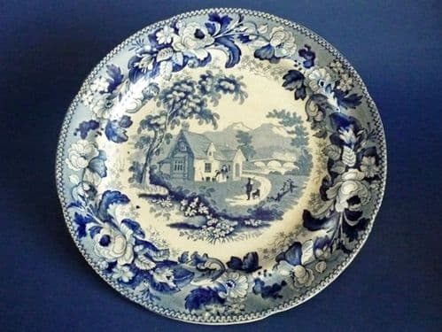 Davenport 'Mare and Foal' Series Pearlware Plate c1836 #2