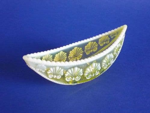 Davidson's Yellow Pearline Glass 'War of the Roses' Posy Trough c1895