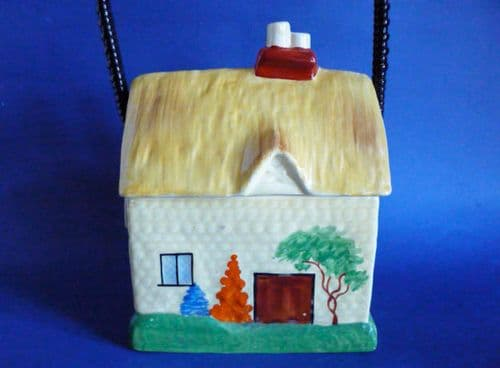 Early Carlton Ware Art Deco Cottage Biscuit Barrel c1932