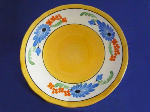Early Clarice Cliff Bizarre 'Sandflower' 9 inch Plate c1929
