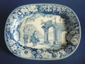 Early Ralph and James Clews 'Romantic Ruins' Small Platter c1820