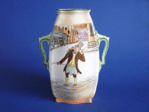 Early Royal Doulton Dickens Ware 'Trotty Veck' Vase D2973 c1910