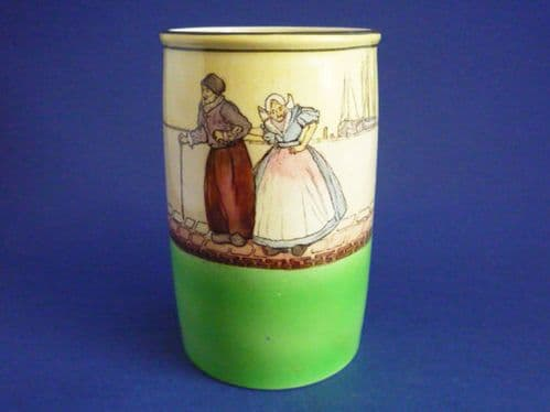 Early Royal Doulton 'Dutch A - Harlem' Series Ware Spill Vase D1886 c1910