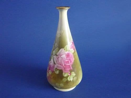 Early Royal Winton Hand Painted 'Roses' Vase signed Piper c1925