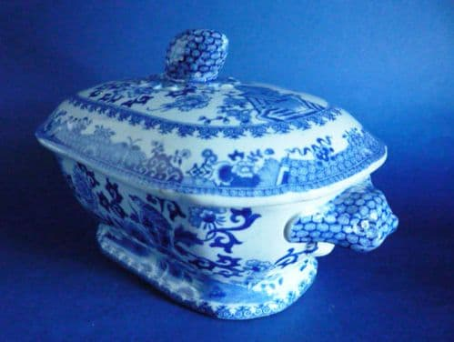 Early Spode 'Grasshopper' Pattern Stone China Sauce Tureen & Cover c1815