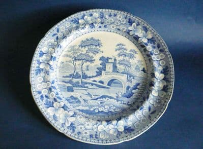 Early Spode 'Tower' Pattern Dinner Plate c1815
