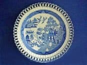 Early Spode Willow Pattern Arcaded Dessert Plate c1810
