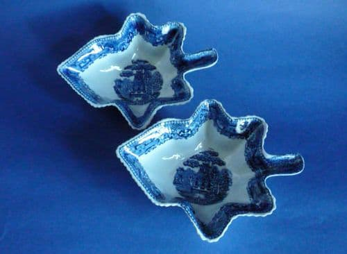 Fine Pair of Staffordshire Pearlware 'Willow' Leaf Pickle Dishes c1820