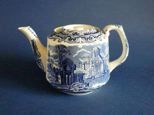 George Jones Blue and White 'Abbey' Ware Teapot c1925