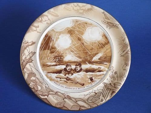 Grimwade's WW1 Bruce Bairnsfather Ware Old Bill - 'A Better Ole' Large Wall Plaque c1920