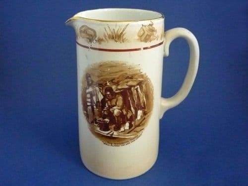Grimwade's WW1 Bruce Bairnsfather Ware Old Bill - 'Well Alfred 'ow are the cakes?' Jug c1920