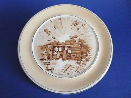 Grimwade's WW1 Bruce Bairnsfather Ware Old Bill - 'Where Did That One Go To?' Large Plaque c1920
