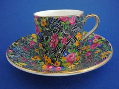 Grimwades Royal Winton 'Cromer' Chintz Coffee Can and Saucer c1939