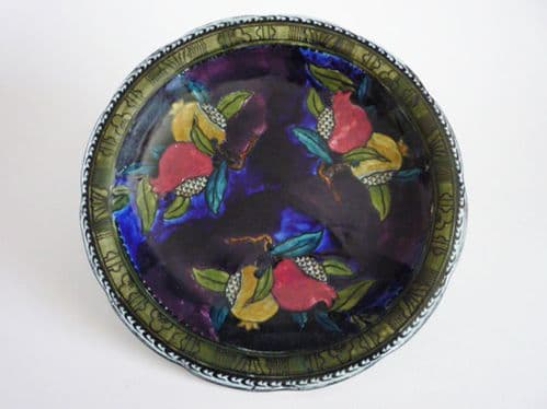 Hancock and Sons Rubens Ware 'Pomegranate' Plate by F. X. Abraham c1930 #1