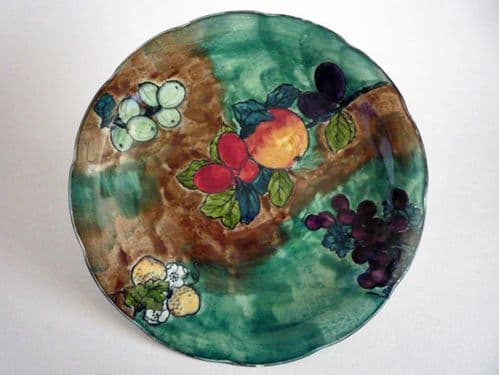 Hancock's Green 'Titian' Ware Plate by F. X. Abraham c1930 #2