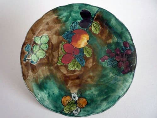 Hancock's Green 'Titian' Ware Plate by F. X. Abraham c1930 #3