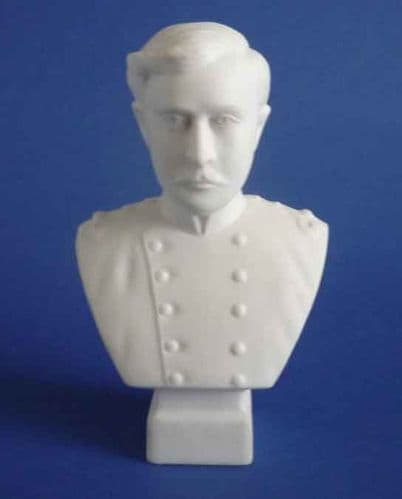 Hewitt and Leadbeater Parian Ware Bust of Albert I King of the Belgians c1914