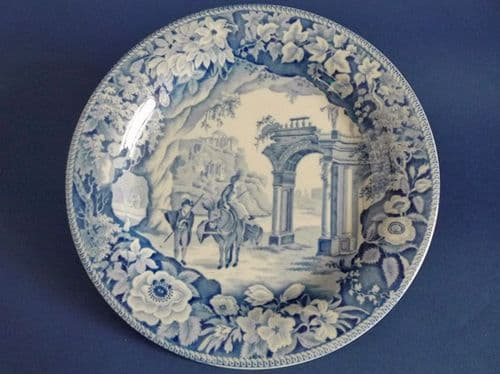 James and Ralph Clews 'Romantic Ruins' Dinner Plate #2 c1820