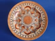 Large Charlotte Rhead Crown Ducal 'Lotus Leaves' Wall Plate c1932 - Pattern 2682