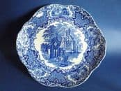 Large George Jones Blue and White 'Abbey' Ware Cake Plate c1933