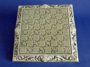 Late Burmantofts Leeds Fireclay Company Art Nouveau Chessboard Tile c1900