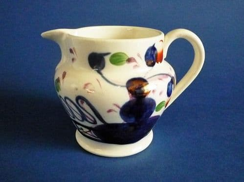 Lovely Gaudy Welsh 'Oyster' Pattern Pottery Jug c1840