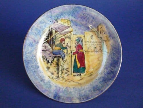 Lovely Grimwades Early Royal Winton 'Glimpses of the East' Lustre Plate c1925 #1