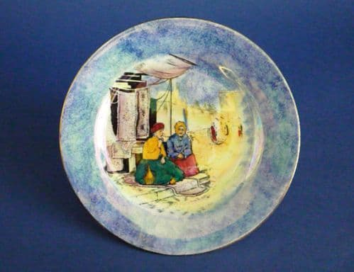 Lovely Grimwades Early Royal Winton 'Glimpses of the East' Lustre Plate c1925 #2