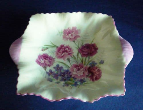 Lovely Shelley Fine Bone China 'Pinks and Violets' Dainty Dish c1945