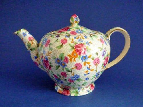 Lovely Vintage Royal Winton 'Old Cottage Chintz' Alban Teapot c1945 (Sold)