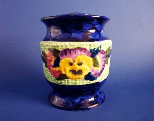 Maling 'Viola and Pansy' Ringtons Flower Vase and Lid c1935 #1