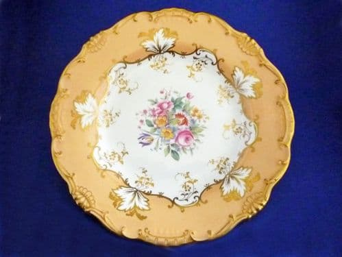 Minton Hand Painted Floral Cabinet Plate by B Smith c1915
