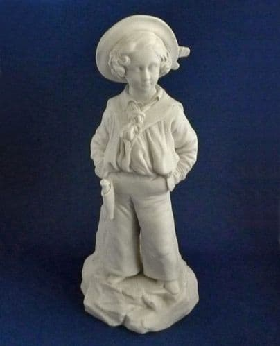 Minton Parian Figure of Young Albert Edward Prince of Wales after Winterhalter c1852