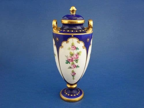 Minton 'Pink Roses' Covered Vase c1915