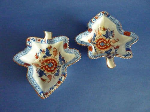 Pair of Early Spode Stone China 'Japan' Pattern 2054 Pickle Dishes c1820