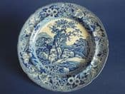 Phillips 'Piping Shepherd' Pearlware Dessert Plate c1825