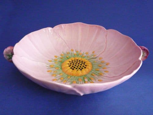 Rare Carlton Ware Large Pink Buttercup Two Handled Dish c1936