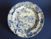 Rare Don Pottery 'Named Italian Views' Series Pearlware Twiffler or Dessert Plate c1820