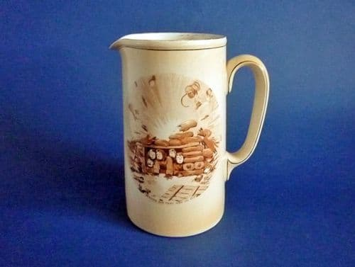 Rare Grimwade's WW1 Bruce Bairnsfather Ware Old Bill - 'Where Did That One Go To?' Large Jug c1920