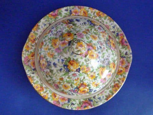 Rare Grimwades Royal Winton 'Bedale' Chintz Muffin Dish c1939 (Sold)