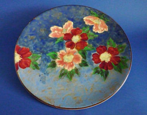Rare Large Royal Doulton 'Wild Rose' Round Tray or Charger D6227 c1949