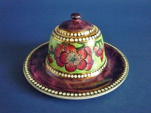 Rare Maling Purple Lustre 'May Blossom' Beehive Inkwell - Pattern 5783 c1930