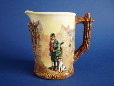 Rare Royal Doulton Dickens Series G 'Bill Sykes' Relief Moulded Jug D6396 c1953