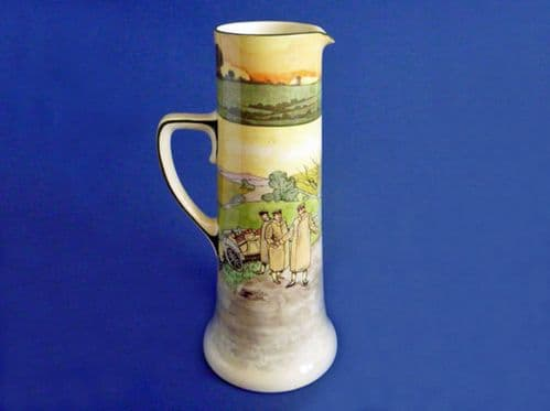 Rare Royal Doulton Early Motoring 'A Horse! A Horse' Large 7110 Pitcher D2406 c1910
