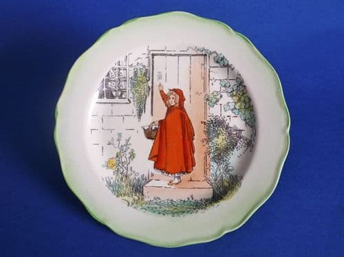 Rare Royal Doulton 'Little Red Riding Hood' Plate D3576 c1915