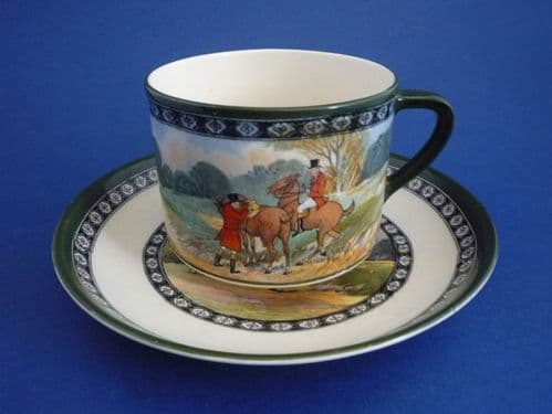 Rare Royal Doulton 'Quorn Hunt' Tea Cup and Saucer c1930