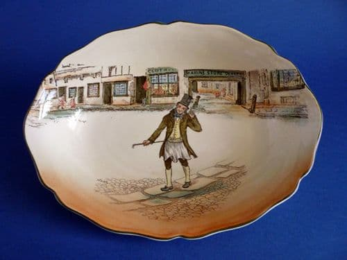 Rare Royal Doulton 'Trotty Veck' Dickens Series 'A' Oval Leeds Dish D2973 c1936